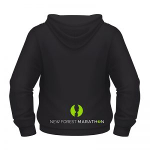 New Forest Marathon Black Hoody (Unisex Fit)