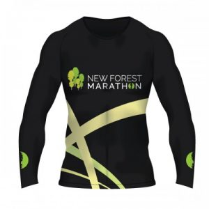 New Forest Marathon Black LS Technical T-Shirt (Unisex Fit)