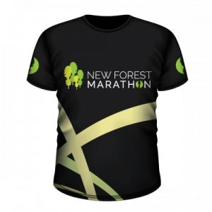 New Forest Marathon Black Technical T-Shirt (Unisex Fit)