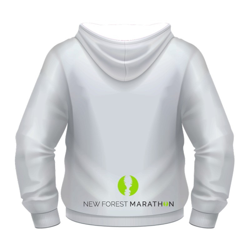 New Forest Marathon White Hoody (Unisex Fit)