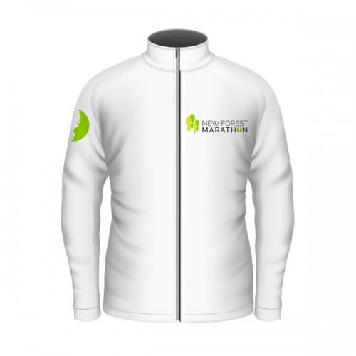 New Forest Marathon White Soft Shell Jacket (Unisex Fit)