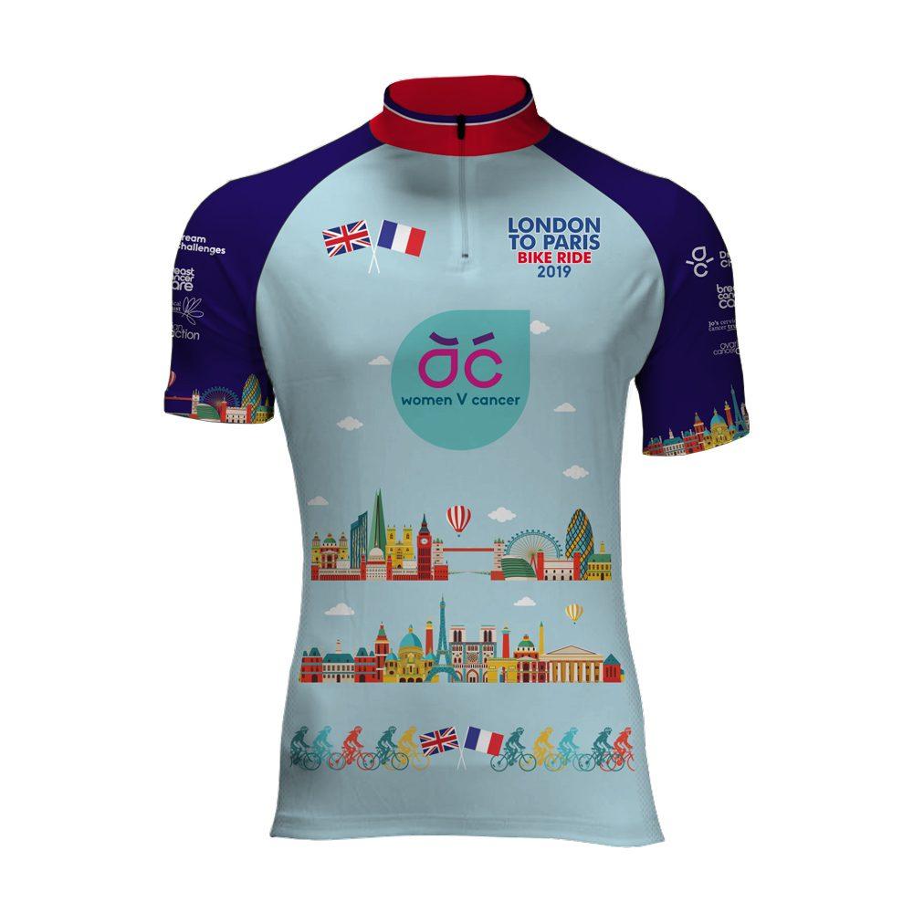 e9f91184b1a Women V Cancer Cycle London to Paris 2019 Cycling Jersey
